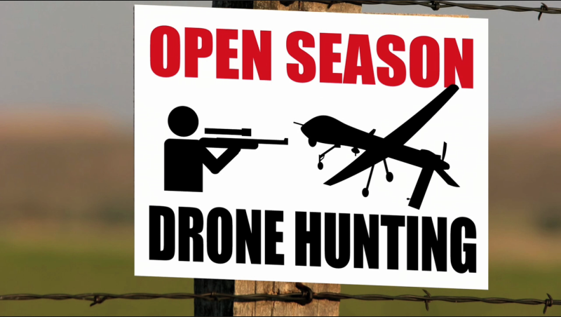 Drone hunting