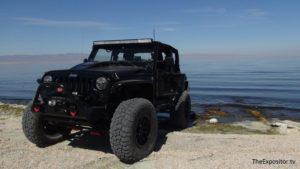 Jeep at Salton Sea