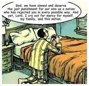 Man praying cartoon