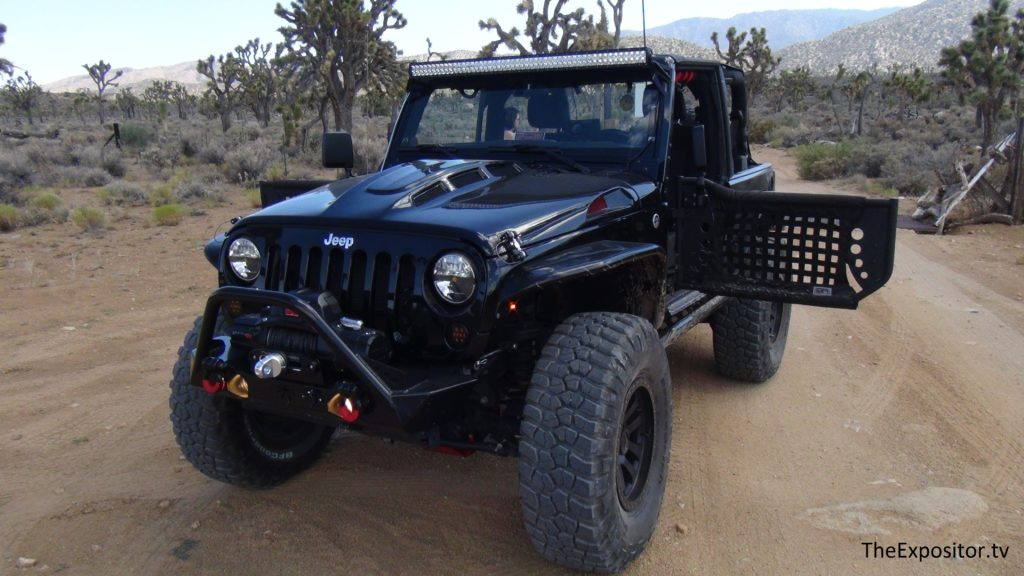 My Jeep in a Joshua tree forest