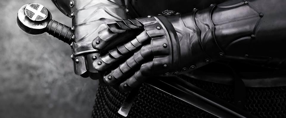 Warrior Soldiers hands on sword (timeline)