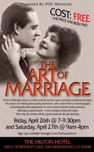 The Art of Marriage flier