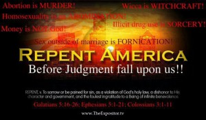 Repent America judgement is coming