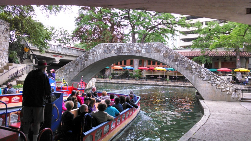 This bridge is Bill's pulpit at The River Walk in Downtown San Antonio, Texas (for a soon coming large venue)