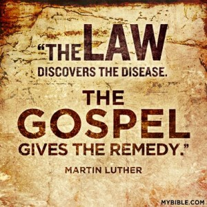 Law vs the Gospel